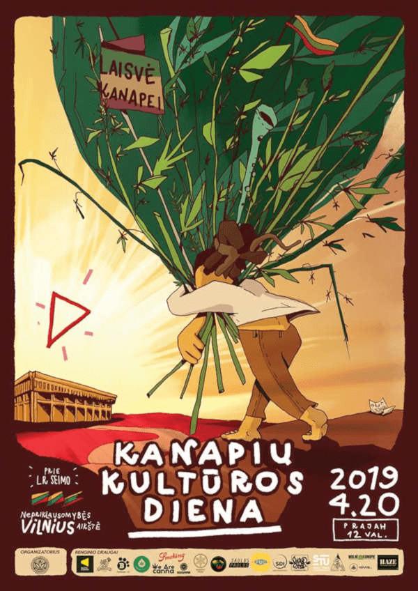 Kanapių kultūros diena 2019 plakatas